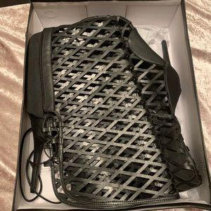 Black Gladiator Thigh-high Heels
